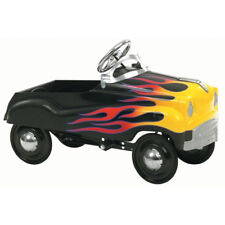 Black Flame Car Ride On Toy Kids Pedal Drive Play Vehicle Rubber Tires Children