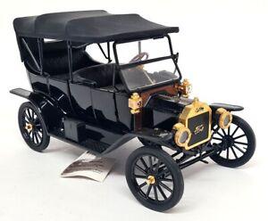 Franklin Mint 1/16 Echelle - 1913 Ford Modèle T Noir Voiture Miniature
