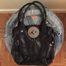 DIESEL leather black leather shoulder bag Hobo bag.. Vintage!
