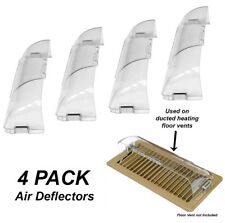 4 x Heavy Duty Air Deflectors for Floor Registers / Vents / Ducted Heating