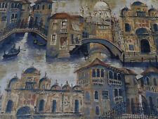Zoffany Curtain/Upholstery Fabric 'Gondolier' 1 METRE 100cm Twilight - Velvet