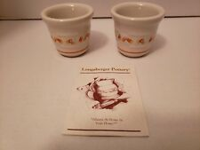 Longaberger Pottery Candy Corn Set Candle Votive Cups Made Usa #37508 Dated 1999