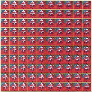 ALBERT HOFMANN BIKE RIDE RED 1995 100 PANEL BLOTTER ART - NEW 2018
