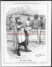 KAISER on the Fence with the NEUTRAL NATIONS. Original 1915 PUNCH Cartoon