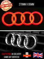 AUDI LED EMBLEM LIGHT FRONT GRILL GLOW LOGO BADGE RINGS RED A1 A3 A4 A5 A6