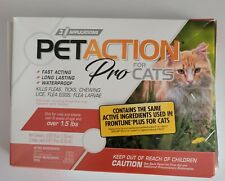 Pet Action Plus for Cats Flea Tick and Lice Treatment 3 doses