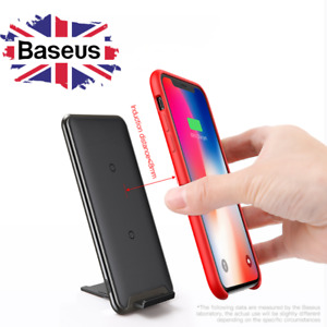 Baseus QI Wireless Charger Multi-Position Phone Holder Dock for iPhone Samsung