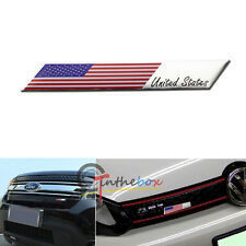 Aluminum Plate American US Flag Emblem Badge For Car Front Grille Side Fender