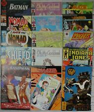 Lot of 184+: Assorted Comics Dc Marvel Indiana Jones Sandman Nick Fury Nomad