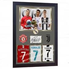 Cristiano Ronaldo man utd Juventus signed photo print autograph poster FRAMED