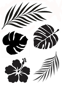 Tropical Leaves stencil - A4/A5
