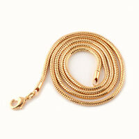 Men/Women Snake Necklace 18k Yellow Gold Filled 24inch Chain link GF Jewelry