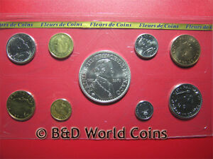 1976 MONACO 9 COINS (1) SILVER SPECIMEN FDC SET BOX+COA MINT=6,000 SETS RARE!