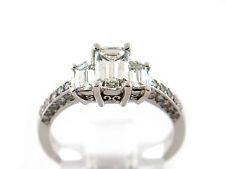 1.66 CT Natural Diamond emarald cut Engagement Ring VS /G 18K White Gold