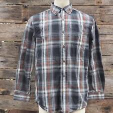Carhartt Mens Plaid Button Down Outdoor Shirt L