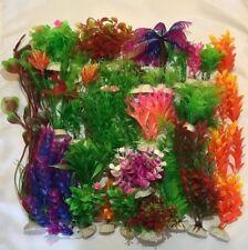 Artificial Plastic Aquarium plants - Mixed lots - Lots 5, 10, 15 Plants - Deluxe