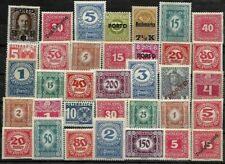 AUSTRIA, SELECTION OF 35 UN-USED  LMM POSTAGE DUE STAMPS FROM 1908-45.
