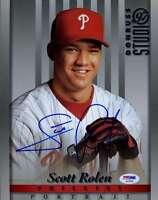 Scott Rolen Rookie Psa/dna Coa Hand Signed 8x10 Photo Authentic Autograph