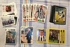 JUVENTUS FC LOTTO 112 FIGURINE DIFFERENTI CALCIATORI VARIE RACCOLTE + 2 BUSTINE