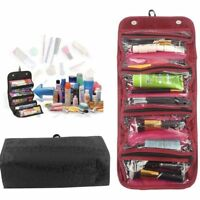 Roll-up Cosmetic Make up Organizer Pouch Hanging Toiletry Travel Pouch Wash Bags