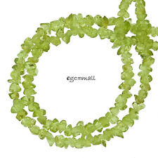 "36"" Natural Peridot Chips / Nugget Beads ap.4mm #85069"