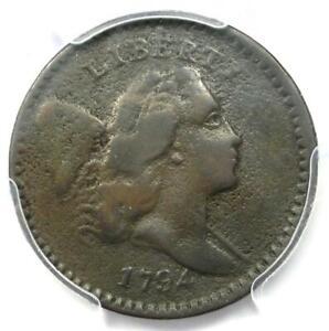 1794 Liberty Cap Flowing Hair Half Cent 1/2C C-8 - PCGS Fine Detail - Rare Coin!