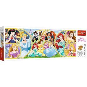 Trefl 500 Piece Panorama Adult Large Disney World Of Princesses Jigsaw Puzzle