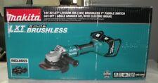 "Makita XAG12PT1I 18V X2 (36V) Brushless 7"" Paddle Switch Angle Grinder Kit"