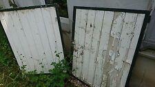 alte Doppeltüre Stahlrahmen für Mülltonnen Häuschen Verschlag Türe shabby chic