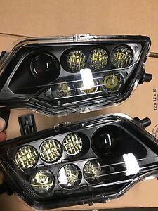 HONDA PIONEER BLACK LED HEADLIGHTS KIT / PAIR-  PIONEER 500 /700 1000 MOD!!