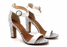 The March Womens UK 5 EU 38 White & Black Spot Barely There High Heel Sandals