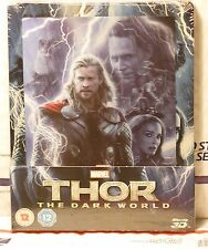 THOR DARK WORLD 3D+2D BLU-RAY+LENTI MAGNET STEELBOOK! UK ZAVVI! READ DISC LOOSE