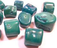 Italienische Natur Koralle Große Perlen Grün Edelstein Naturform BEST G625