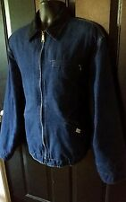 Vtg CARHARTT Denim Jean Insulated Jacket 100th Anniversary Mens 2XL Union Made