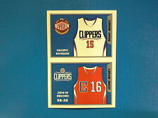 2015-16 Panini NBA Sticker Collection n.352-353 Jersey Los Angeles Clippers