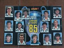 JUVE CAMPIONE D'EUROPA '85 - 1985 -  - POSTER INTREPIDO SPORT