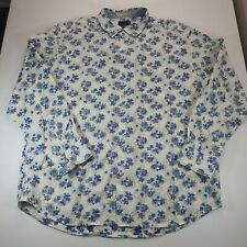 Tommy Bahama Jeans Mens Long Sleeve Shirt Size XL Light Blue Floral Print