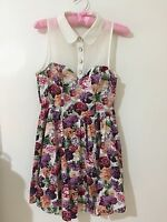 Ally Fashion Floral Button Up Style Flowy Dress Size 8