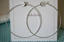 Stella & Dot Essential Hammered Hoops - Silver