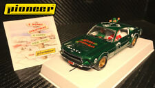 "Pioneer ""Santa's Stang"" Green 1968 Ford Mustang 390 GT 1/32 Scale Slot Car P040"