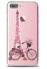 """Handyhülle iPhone 7 """"Bike in Paris"""" transparent/weich"""