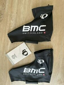 PEARL AZUMI TEAM BMC CYCLING SHOE COVERS_RARE!_SIZE S_NEW!_MSRP $90