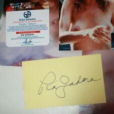 Picture of Pia Zadora  & Autographed card & COA