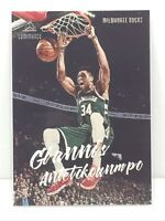 2019-20 Panini Chronicles Luminance #155 Giannis Antetokounmpo Milwaukee Bucks