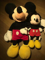 1 Disney Store Exclusive Mickey Mouse And 1 Small Hand Mickey mouse Both Plush.