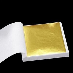 1-100 x Sheets Gold Silver Copper Leaf Art + Crafts Scrapbooking Gilding Framing