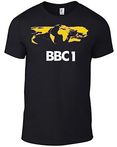 BBC BBC1 T-shirt GLOBE Logo Retro 1970s television TV British English regional B