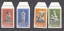 Switzerland  1940 Pro Patria Souvenir Sheet, all 4 stamps from sheet, MNH