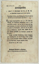 SCHLACHTER Gesetz FLEISCH Original Text 1818 ÖSTERREICH SCHÖNBRUNN von Stiebar