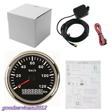 Waterproof Durable 12/24V 85mm 120KM/H Car Vehicle GPS Digital Speedometer Gauge